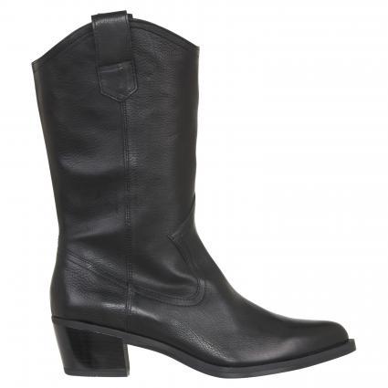 Stiefel 'Gladis' aus Leder schwarz (BLACK) | 36