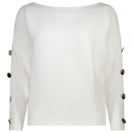 Sweatshirt 'Diana' mit weitem Kragenausschnitt weiss (TWHT TRUE WHITE A000) | L