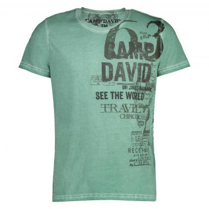 T-Shirt mit Logo-Print  grün (Sea Green) | M