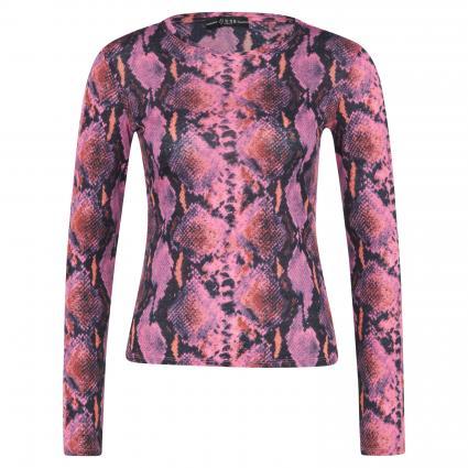 Langarmshirt 'Irina' mit Schlangen-Musterung pink (P41A SNAKE PRINT PIN) | XL