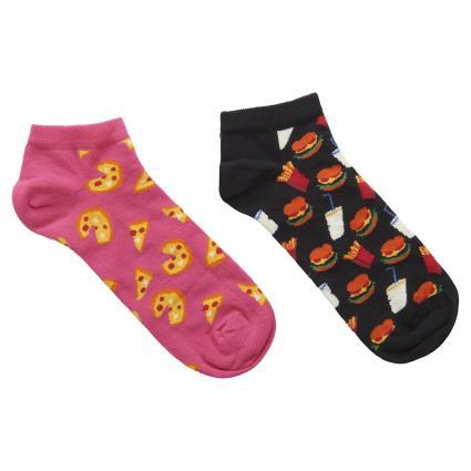 Chaussettes à motif orange (4000 2-pack pizza low sock) | 41-46