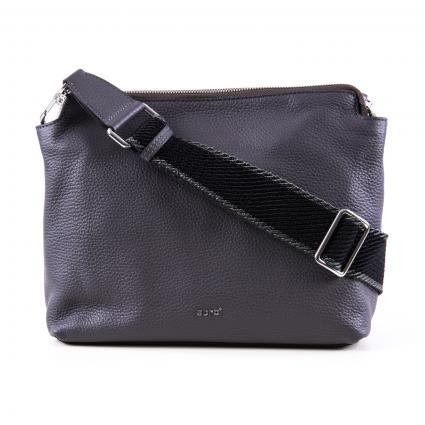 Crossbag en cuir véritable gris (11 D GREY) | 0