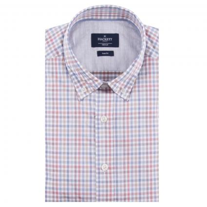 Slim-Fit Button-Down Hemd mit All-Over Karomuster  rot (2AWRED/MUL)   S