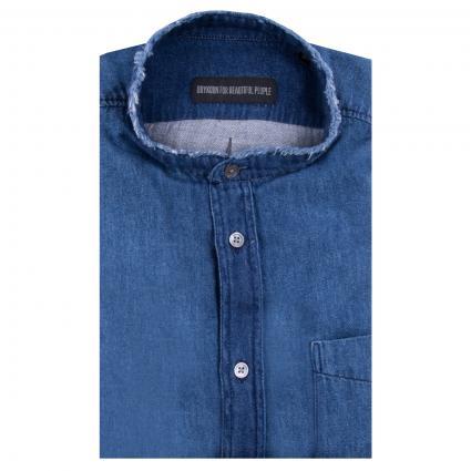 Regular-Fit Hemd 'Donny' mit Stehkragen blau (3200) | S