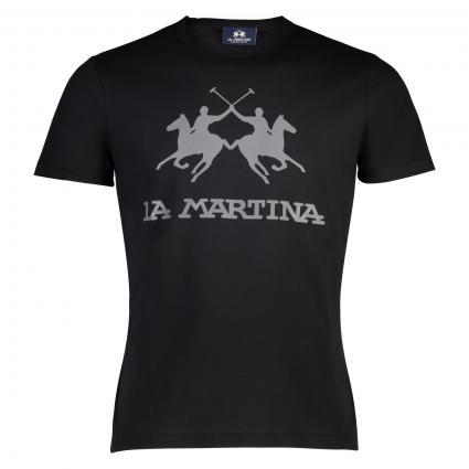 T-Shirt avec impression d'étiquettes  noir (09999 Black) | L