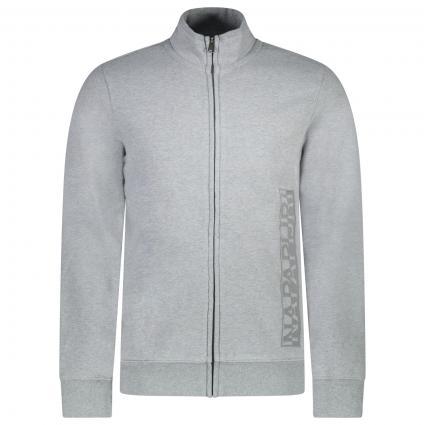 Sweatshirtjacke 'Berber' grau (160 Med Grey) | XXL