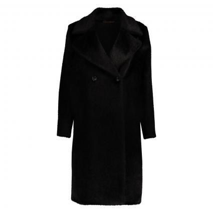 Manteau'Naro' avec col à revers tombant noir (013 schwarz)   38
