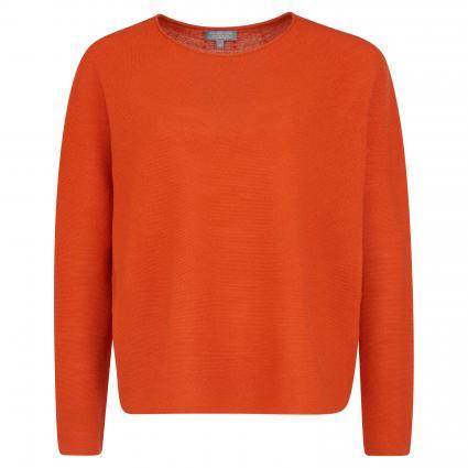 Strickpullover mit Rundhalsausschnitt  orange (28097 orange) | S