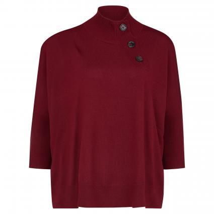 Pullover mit Stehkragen und Zierknöpfen rot (1206 spicy)   M