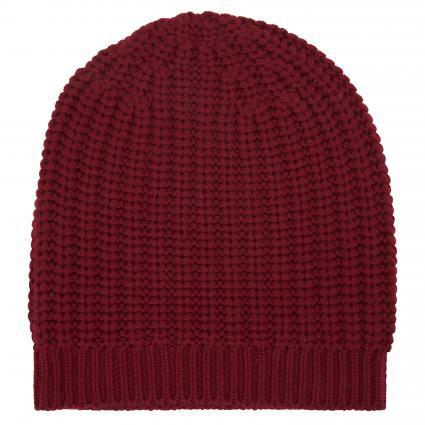 Mütze mit Rippbündchen rot (1206 spicy) | 0