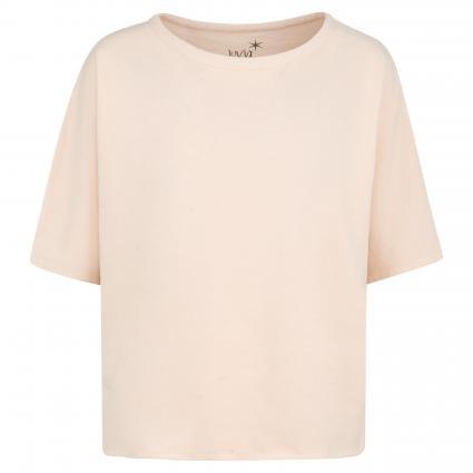 Sweatshirt mit offener Saumkante rose (700 blush) | L