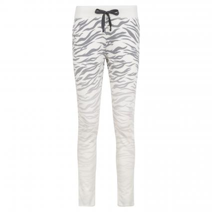 Sweatpants mit Zebra-Muster anthrazit (980 graphit) | S