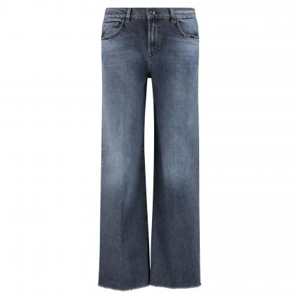 Weite Jeans 'Dara' mit Zierelementen blau (485 Blue Black Denim) | 28