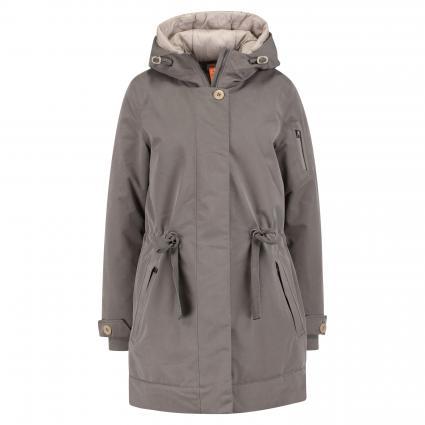 Manteau'Nea' avec capuche taupe (790 taupe)   L
