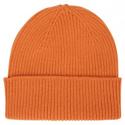 Mütze aus Merinowolle orange (burned orange)   0