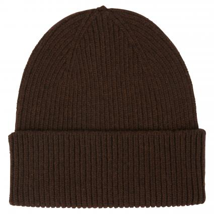 Mütze aus Merinowolle braun (coffee brown) | 0