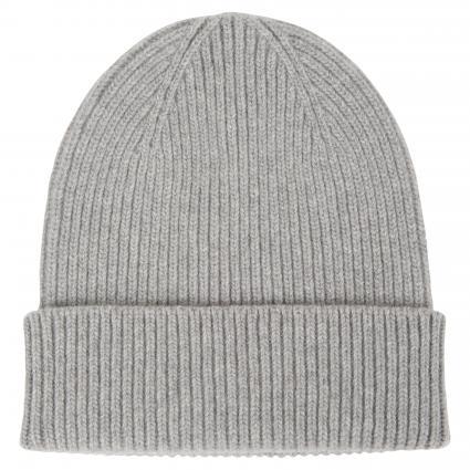 Mütze aus Merinowolle grau (heather grey) | 0