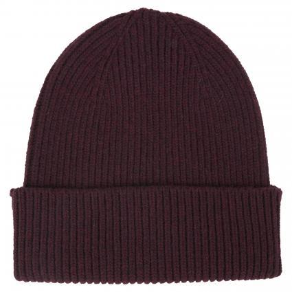 Mütze aus Merinowolle bordeaux (oxblood red) | 0