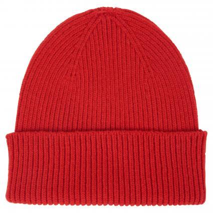 Mütze aus Merinowolle rot (scarlet red) | 0