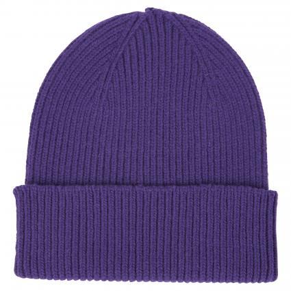 Mütze aus Merinowolle lila (ultra violet) | 0