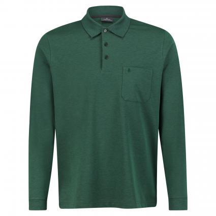 Langarmshirt mit Polo-Kragen grün (35 Green) | XXL