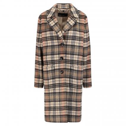 Mantel mit Glencheck-Muster braun (473 Karo) | 38