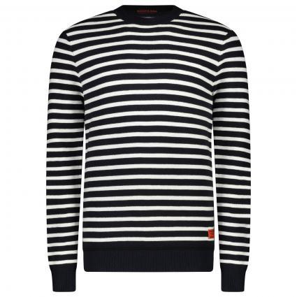 Pullover mit Rundhalsausschnitt aus Baumwoll-Mix  blau (0217 Combo A stripe) | S
