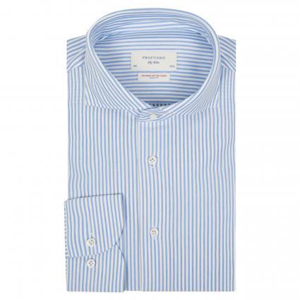 Slim-Fit Hemd mit Streifenmuster blau (blau) | 41