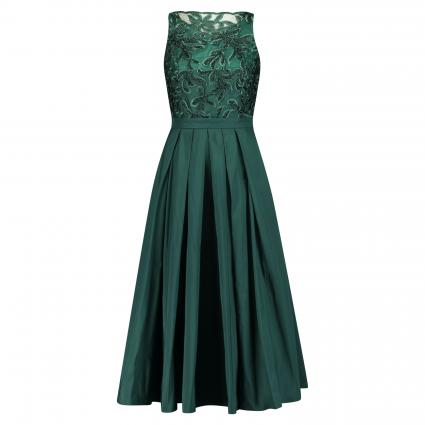 Ärmelloses Kleid mit Spitzenbesatz grün (520 grün)   34
