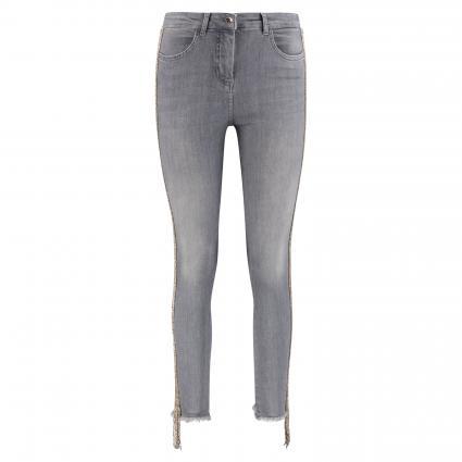 Skinny-Fit Jeans mit Perlenbesatz grau (S567 GRAY JEWEL) | 27