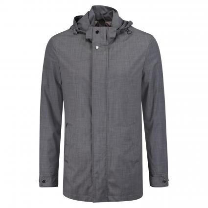 Jacke mit abnehmbarer Kapuze grau (LGR) | 48