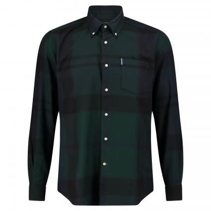Button-Down Hemd 'Dunoon' mit Brusttasche blau (BK71 blackwatch tartan) | XL