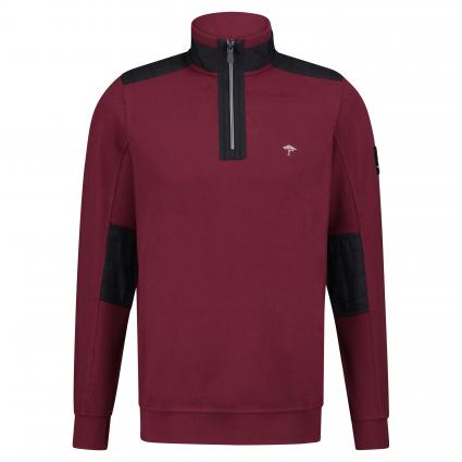 Troyer mit Pikee-Struktur bordeaux (359 Indian Red)   M