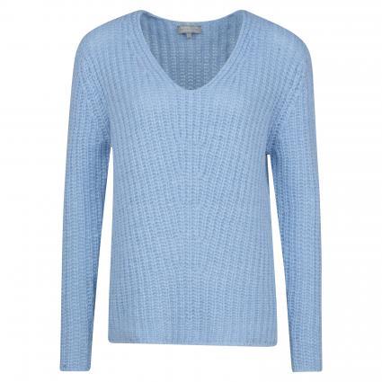 Strickpullover mit V-Ausschnitt blau (27277 misty blue) | M