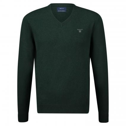 Pullover mit V-Ausschnitt grün (374 Tartan Green) | XXL