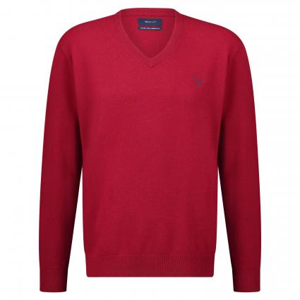 Pullover mit V-Ausschnitt rot (610 Red ) | XXL