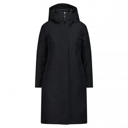 Wasserabweisender Mantel 'Hero' mit Kapuze schwarz (01 schwarz)   S