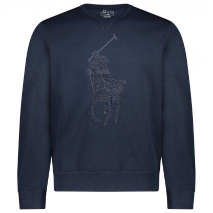 Sweatshirt mit großem gestricktem Logo marine (009 aviatr nvy) | XL