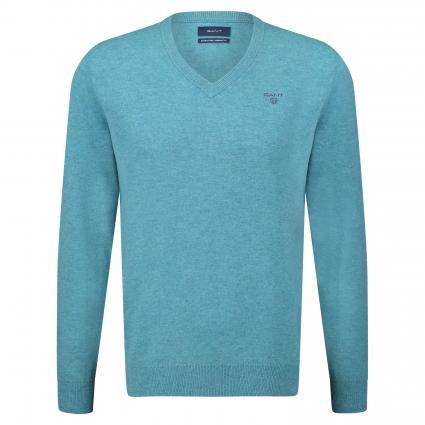 Pullover mit V-Ausschnitt türkis (407 Saxony Blue)   XL