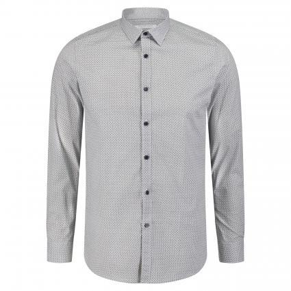 Hemd 'Minimal' mit Strukturmuster weiss (100 White) | M