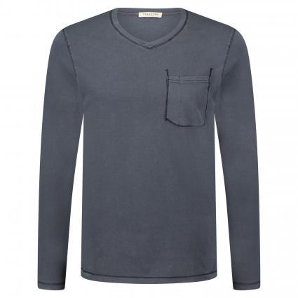 Langarmshirt aus Baumwolle marine (Dark Sapphire) | M