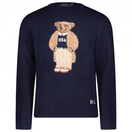 Pullover mit Preppy Bear marine (001 navy app bear) | XL