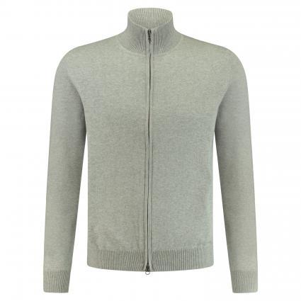 Strickjacke mit Front Zipper grau (BBCC17 silver) | XXXL