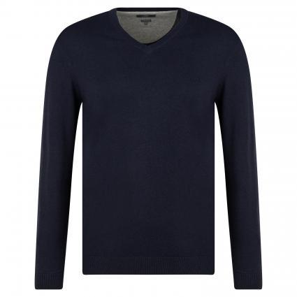 Pullover mit V-Ausschnitt marine (B8895 navy) | L