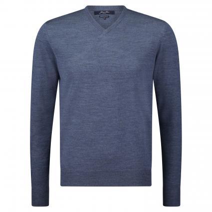 Pullover aus Merinowolle blau (5M0928 denim)   XL