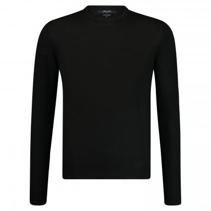 Pullover aus Merinowolle  schwarz (9E1049)   L