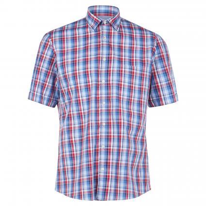 Kurzarmhemd  mit Brusttasche rot (6100/35 red chk) | XL