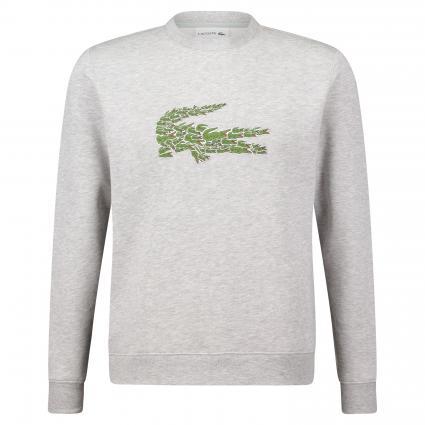 Sweatshirt mit Logo-Stickerei grau (CCA argent chine) | S