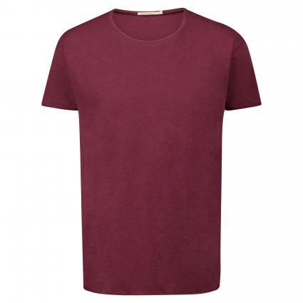 T-Shirt 'Roger' mit leichter Struktur bordeaux (fig)   S