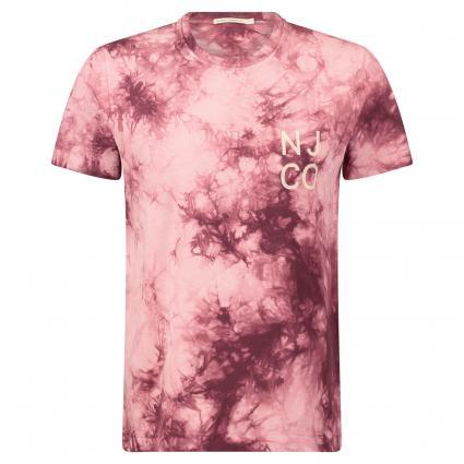 T-Shirt 'Roy' im Batik-Look bordeaux (tie dye fig)   M